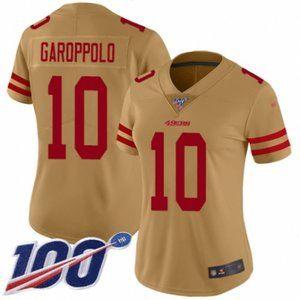 Women 49ers Jimmy Garoppolo 100th Season Jersey (3